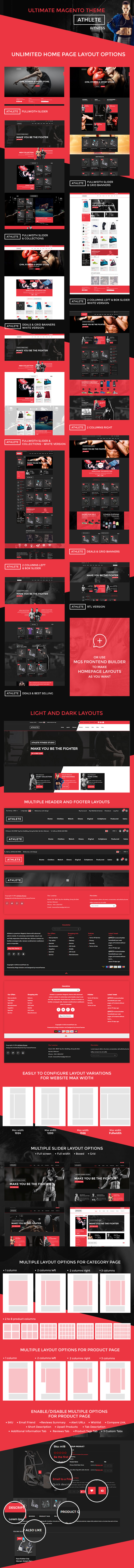 features - Athlete | Fitness - Multipurpose Magento theme
