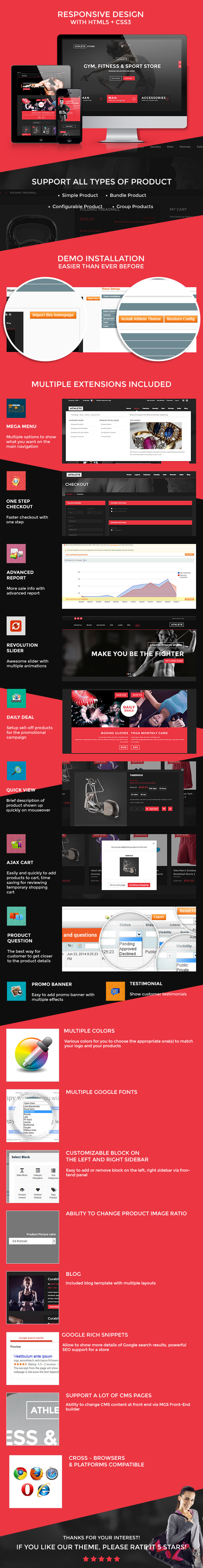 features2 - Athlete | Fitness - Multipurpose Magento theme