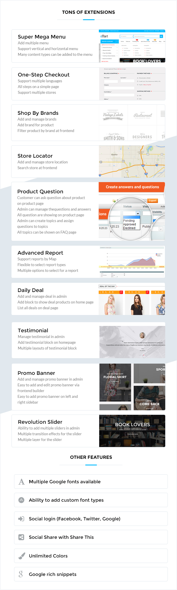 6 extensions - Cetus - Multipurpose Magento Theme
